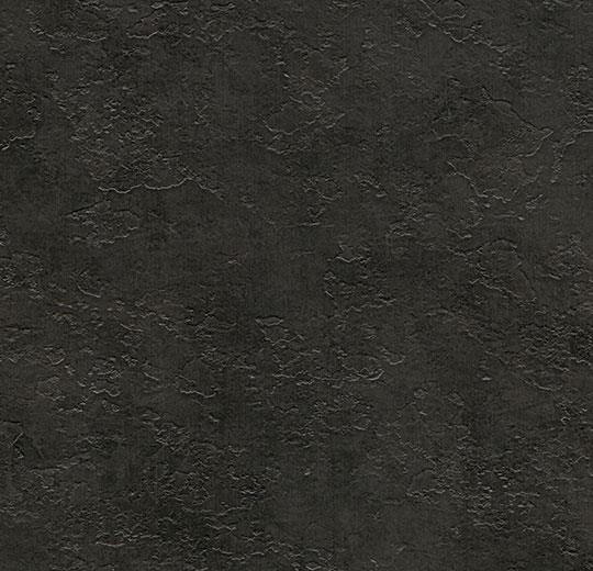 Arduvaz siyahı yapranmış beton desenli karo pvc yer kaplaması
