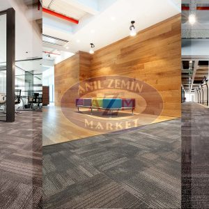 ak inşaat ofis tessera karo halı uygulaması 1