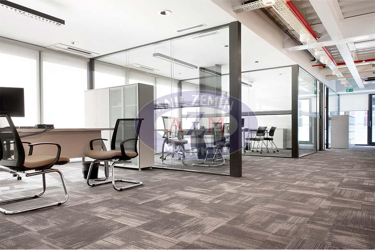 ak inşaat ofis tessera karo halı uygulaması 2