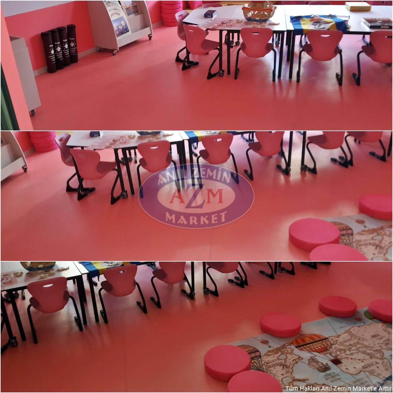 PVC okul zemin uygulaması