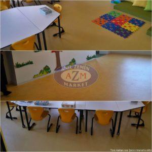 Rulo pvc okul zemin uygulaması