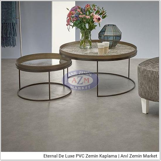 Eternal de luxe PVC zemin kaplama uygulama görseli 2733-3153 light concrete tile