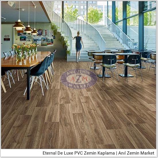 Eternal de luxe PVC zemin kaplama uygulama görseli 2841-3051 dark wild oak