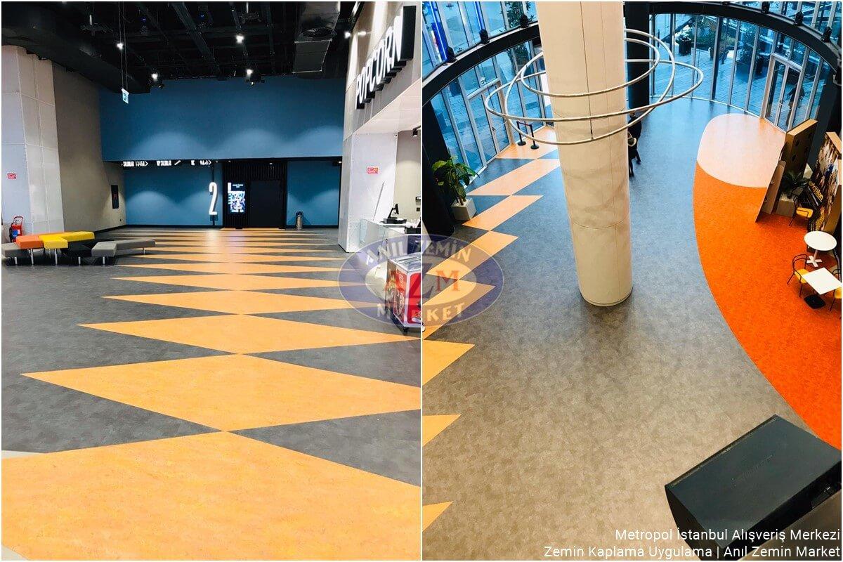 Metropol İstanbul Alışveriş Merkezi turucu gri linolyum zemin uygulama1