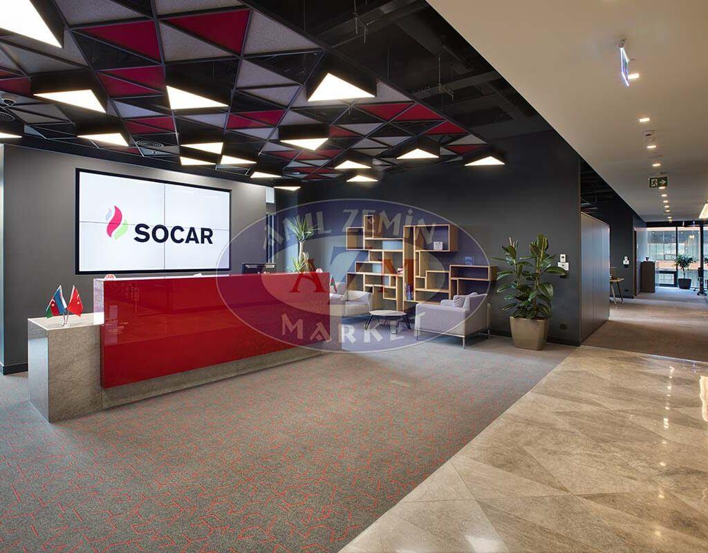 Socar türkiye Ofisi flotex triad karo halı 2