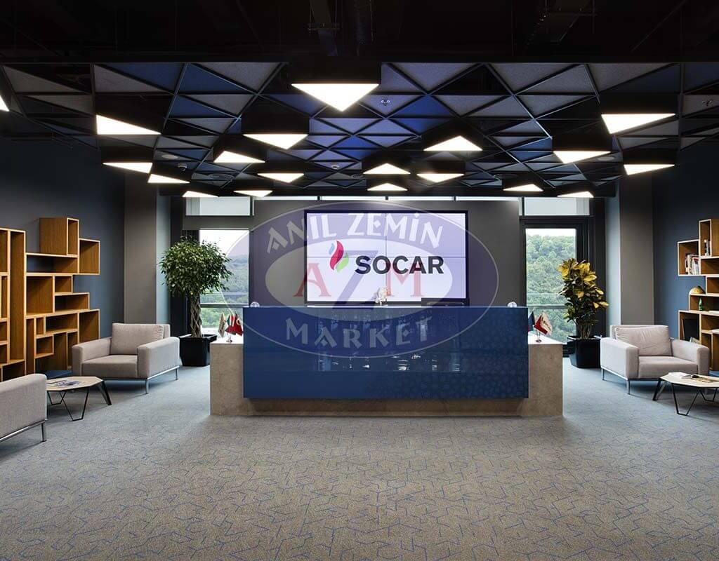 Socar türkiye Ofisi flotex triad karo halı 3
