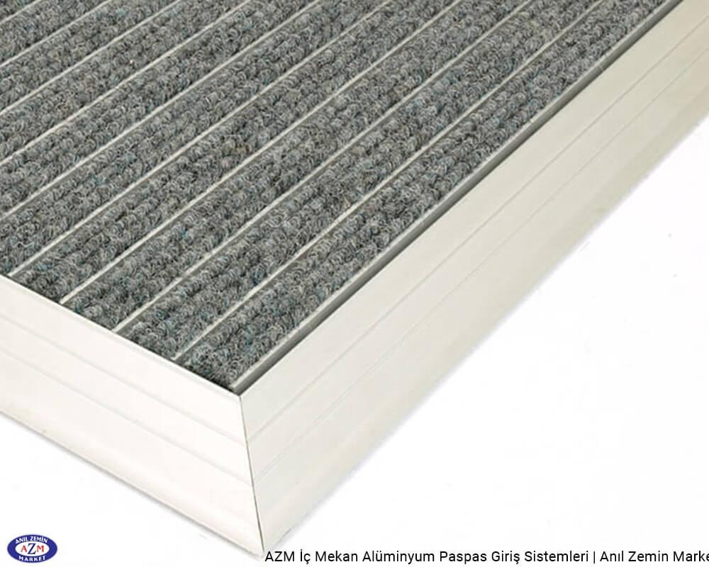 AZM Pearl 75.0120 Alüminyum Gövdeli Rip Halılı Paspas - standart ölçü