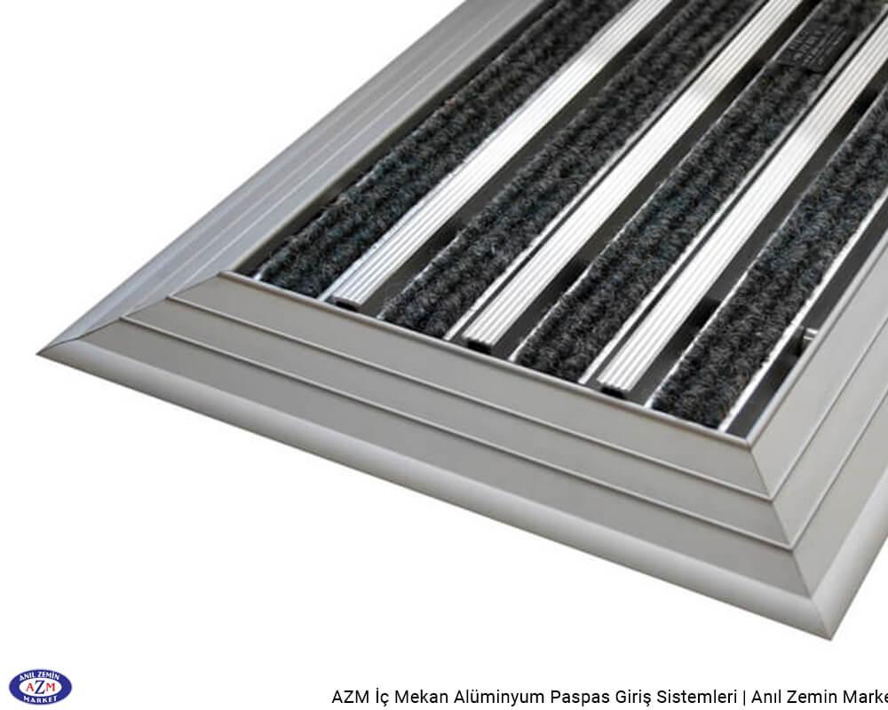 AZM Pearl 75.0124 Alüminyum Gövdeli Rip Halılı+Sıyırıcılı Paspas - standart ölçü