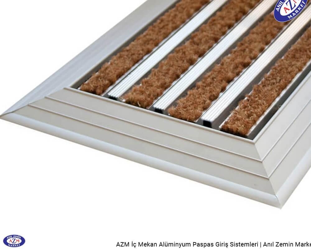 AZM Pearl 75.0224 Alüminyum Gövdeli Rip Halılı+Sıyırıcılı Paspas - standart ölçü