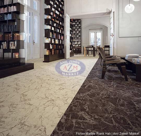 flotex marble plank karo halı uygulama 143003 pietra 143004 diano