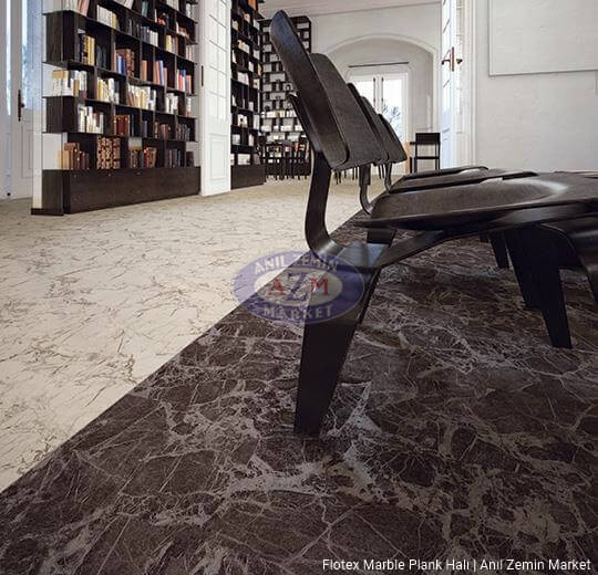 flotex marble plank karo halı uygulama 143004 diano 143003 pietra