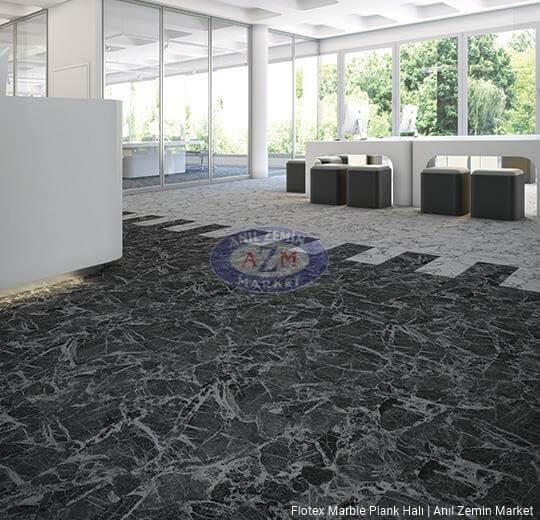 flotex marble plank karo halı uygulama