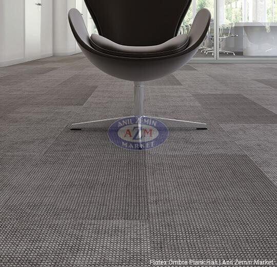 flotex ombre plank karo halı uygulama 149003 tropic