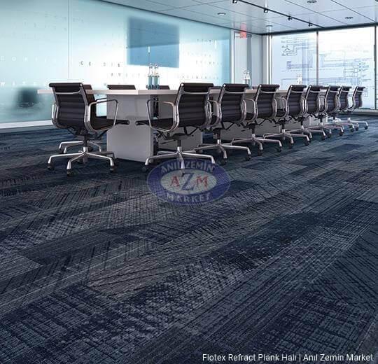 flotex refract plank karo halı uygulama 137003 sapphire