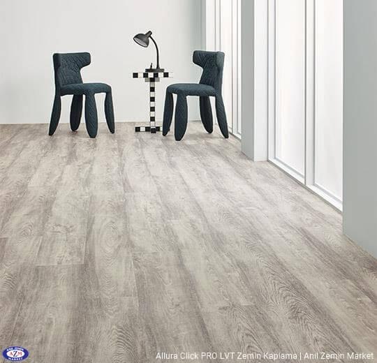 Allura Click Pro beyaz kereste ahşap desenli pvc vinil LVP-LVT zemin kaplama 60151CL5 white raw timber1