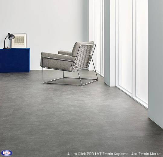 Allura Click Pro dogal beton desenli pvc vinil LVP-LVT zemin kaplama 62522CL5 natural concrete1