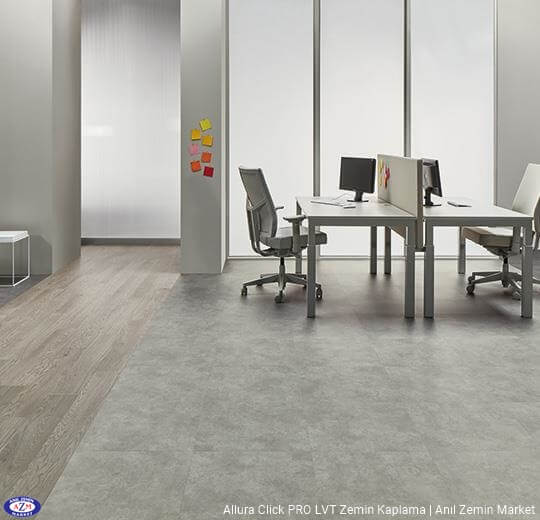 Allura Click Pro gri beton pvc vinil LVP-LVT zemin kaplama - 62523CL5 grigio concrete1