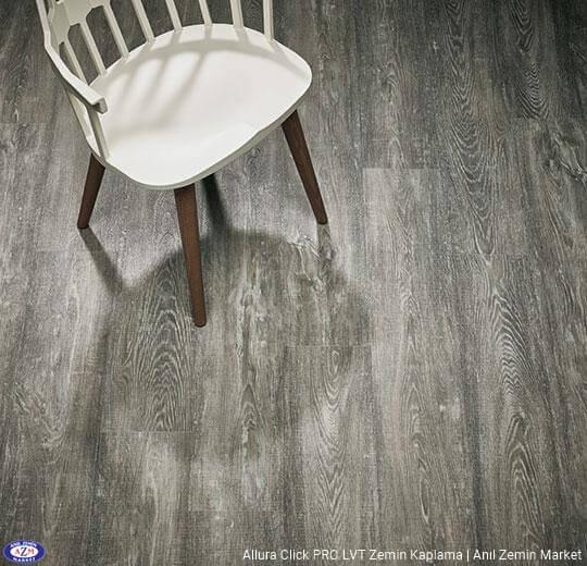 Allura Click Pro gri kereste ahşap desenli pvc vinil LVP-LVT zemin kaplama - 60152CL5 grey raw timber1