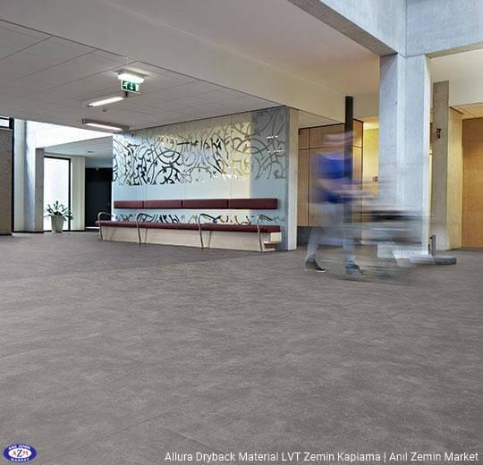 Allura Dryback Material Beton desenli LVT zemin kaplama 62512DR7-62512DR5 natural concrete (100x100cm)1