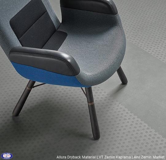 Allura Dryback Material Beton desenli LVT zemin kaplama 63434DR7-63434DR5 cool concrete dots1
