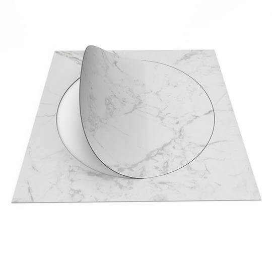 63550DR7 white marble circle
