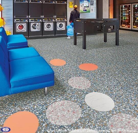 Allura Dryback Material mavi terrazzo desenli pvc vinil LVT zemin kaplama 63492DR7-63492DR5 blue terrazzo1