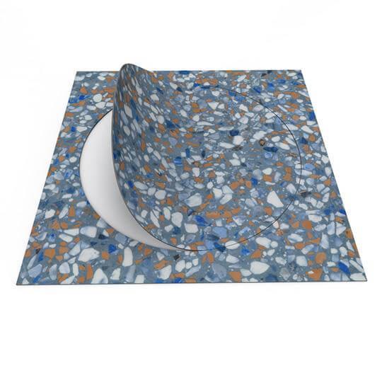 63592DR7 blue terrazzo circle