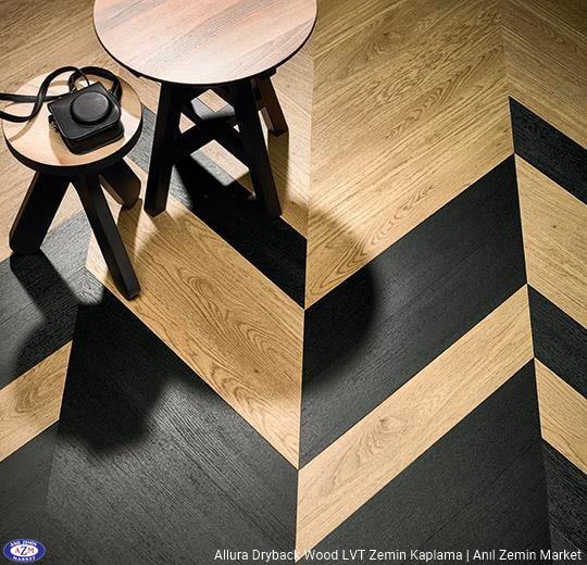 Allura Dryback Wood Ahşap desenli LVT zemin kaplama 60055DR7-60055DR5 waxed oak 60389DR7-60389DR5 charcoal solid oak