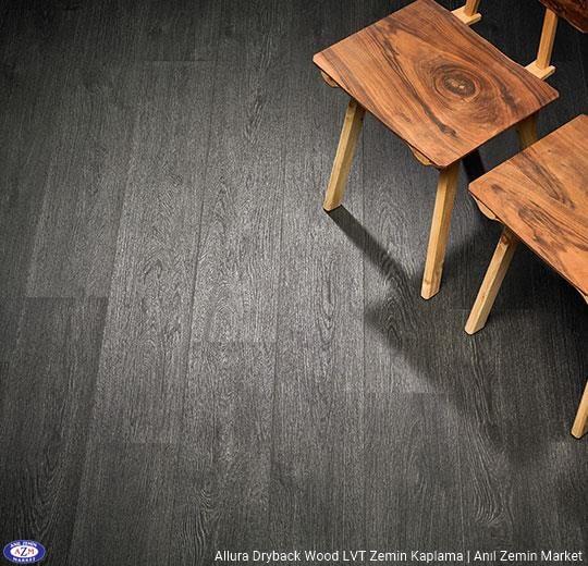 Allura Dryback Wood Ahşap desenli LVT zemin kaplama 60074DR7-60074DR5 black rustic oak1