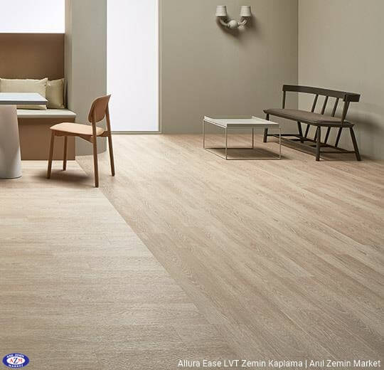 Allura Ease meşe ahşap desenli sök tak pvc vinil LVP-LVT zemin kaplama - 63406EA7 bleached timber