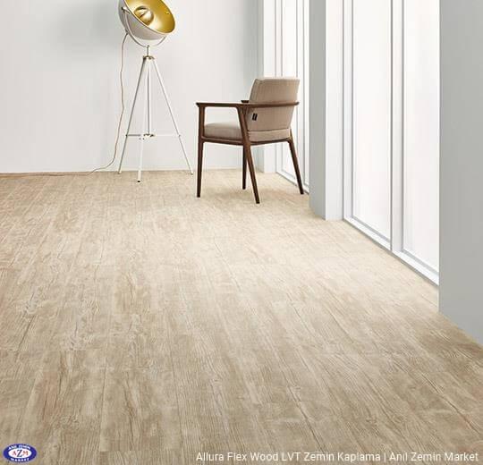 Allura Flex Wood çam ahşap desenli esnek vinil LVT zemin kaplama 60084FL1-60084FL5 bleached rustic pine1