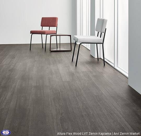 Allura Flex Wood gri meşe ahşap desenli esnek vinil LVT zemin kaplama 60375FL1-60375FL5 grey collage oak1