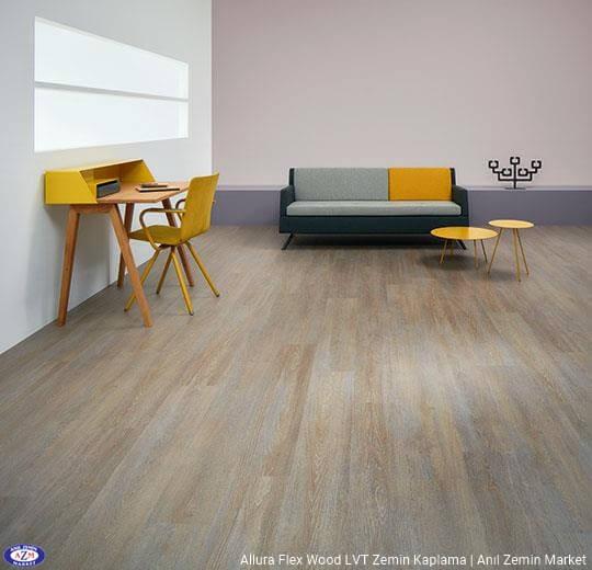 Allura Flex Wood koyu renk meşe ahşap desenli esnek vinil LVT zemin kaplama 60293FL1-60293FL5 steamed oak1