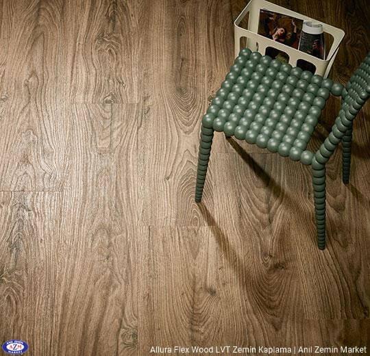 Allura Flex Wood koyu renk meşe ahşap desenli esnek vinil LVT zemin kaplama 60302FL1-60302FL5 deep country oak1