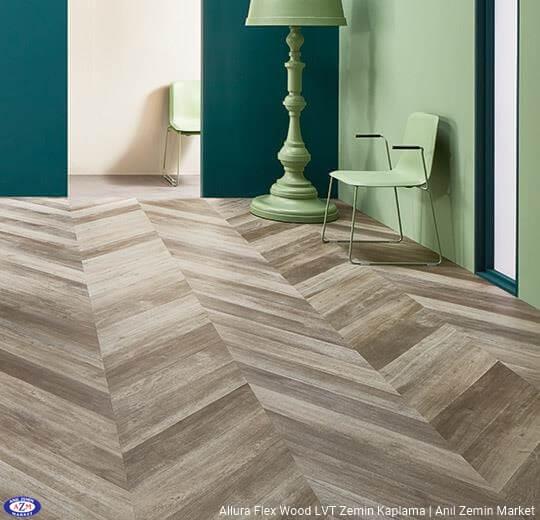 Allura Flex Wood macar kesim meşe ahşap desenli esnek vinil LVT zemin kaplama 60357FL1-60357FL5 grey autumn oak1
