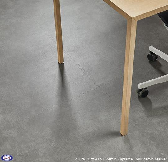 Allura Puzzle dogal beton desenli sök tak pvc vinil LVP-LVT zemin kaplama 62522PZ7 natural concrete1
