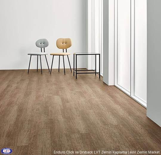 Enduro dryback meşe desenli pvc vinil LVP-LVT zemin kaplama 69123DR3-69123CL3 chocolate oak1