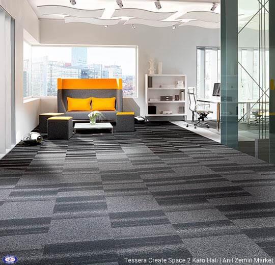Tessera create space 2 polyamid 50x50 Karo Halı - ofis halısı 2