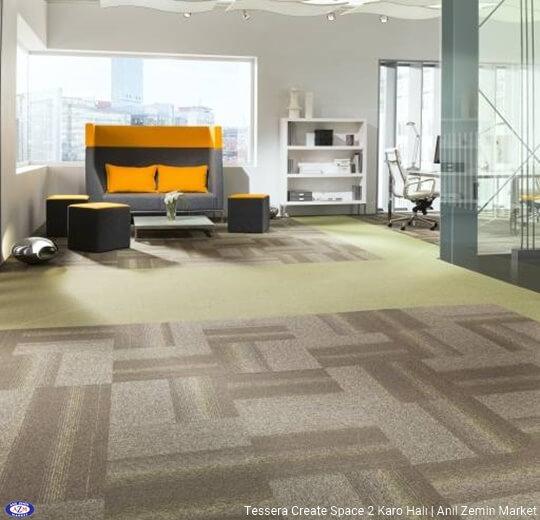 Tessera create space 2 polyamid 50x50 Karo Halı - ofis halısı 3