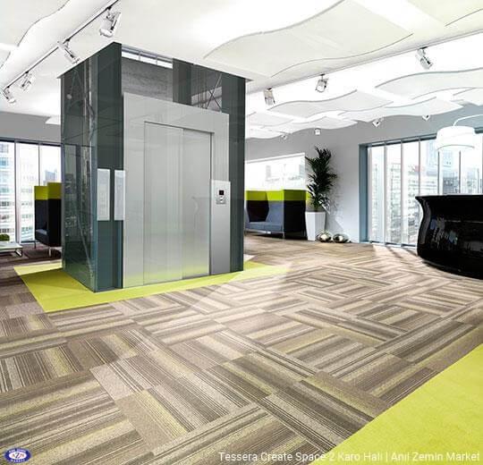 Tessera create space 2 polyamid 50x50 Karo Halı - ofis halısı 5