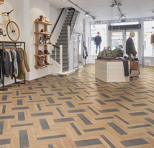 Anıl Zemin sarlon 15db-19db wood akustik heterojen vinil kaplama 9201T4315-9201T4319 light hybrid wood concrete1