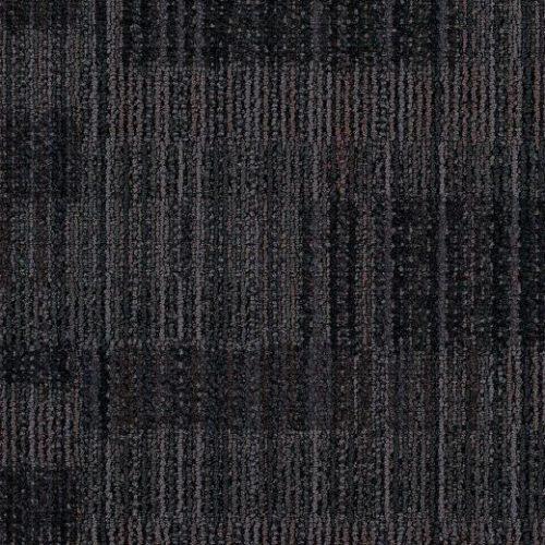 siyah desenli çizgili ofis karo halı