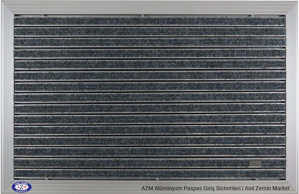 AZM Fine Pearl 76.0120 Alüminyum Gövdeli Rip Halılı Paspas - standart ölçü