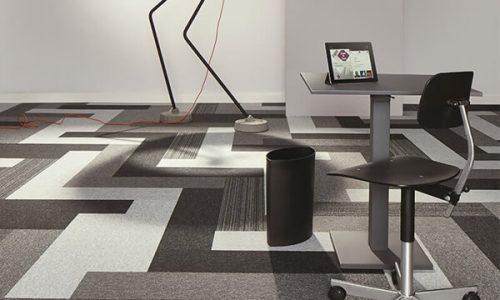 Tessera Layout Outline polyamid Karo Halı ofis halısı