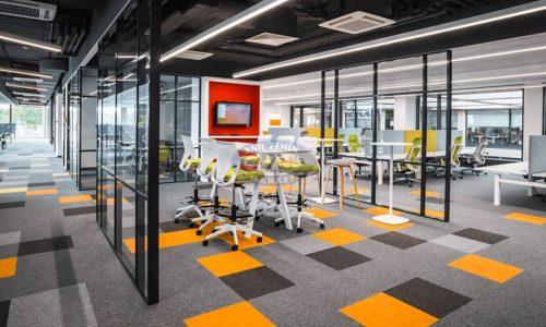 Flotex karo halı leke tutmayan flok ofis halısı 04