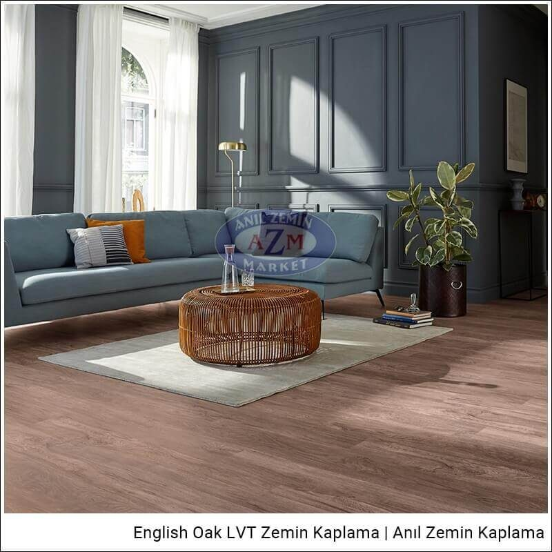 Mflor LVT zemin kaplama uygulama English Oak Darwen Oak