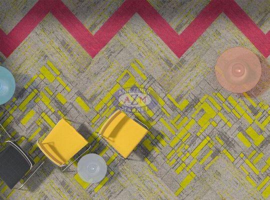 AZM Mondrian plank karo halı polyamid ofis halısı
