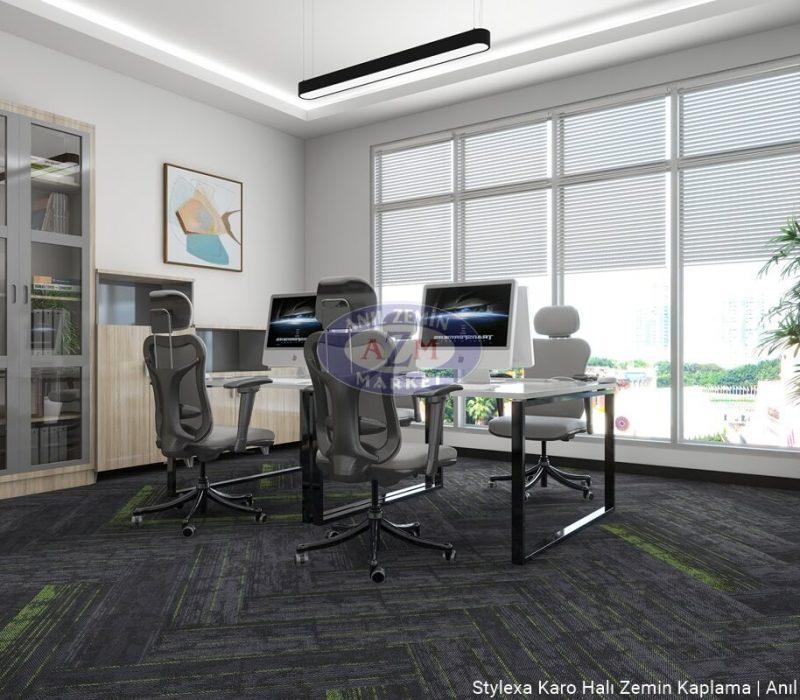 AZM Polipropilen PP Ofis Karo Halı uygulama Stylexa-2002
