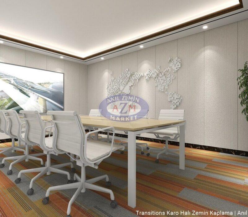 AZM Polipropilen PP Ofis Karo Halı uygulama Transitions 02