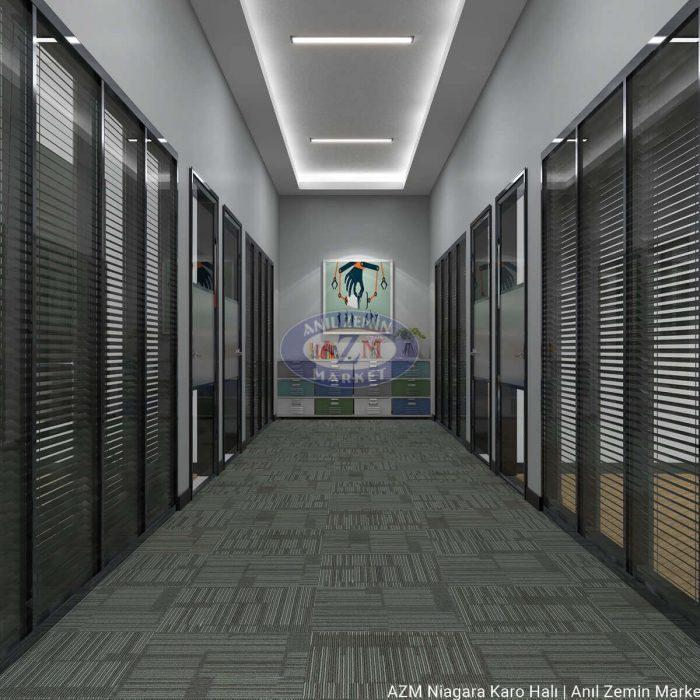 AZM Polipropilen karo halı ofis halısı Niagara 05-2